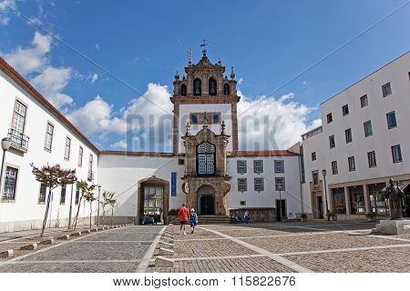 Braga, Portugal - July 27, 2015: Nossa Senhora da Torre chapel. 18th century religious architecture and a landmark of the city.