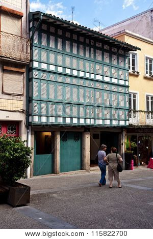 Braga, Portugal - July 27, 2015: Casa dos Crivos or Gelosias. A typical 16th/17th century house erected by an Archbishop.