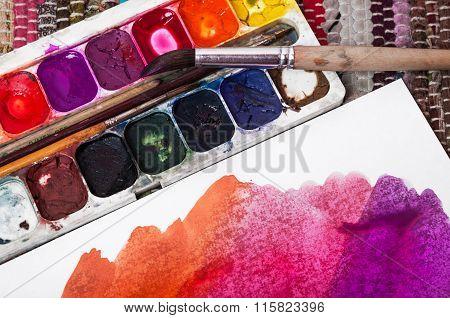 Watercolor And Watercolor Sketch