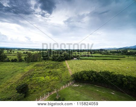 Aerial View of a Farm in Goias, Brazil