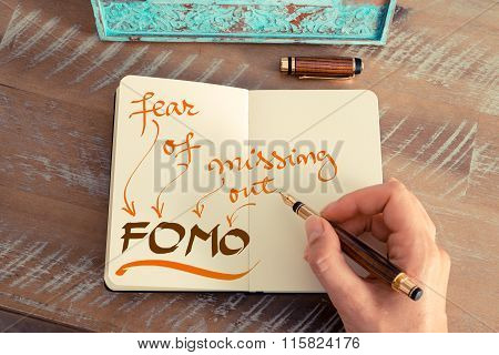 Business Acronym Fomo Fear Of Missing Out
