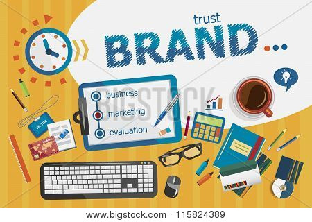 Branding Design Concept. Typographic Poster.