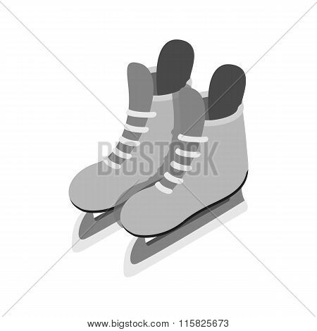 Ice skates isometric 3d icon