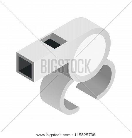 Blowing whistle isometric 3d icon