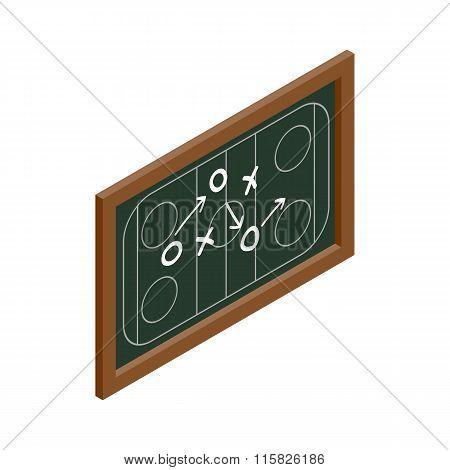 Hockey strategy chalkboard isometric icon