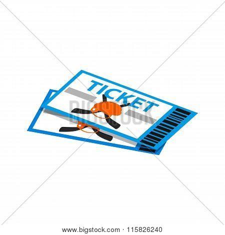 hockey tickets isometric 3d icon