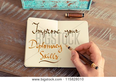 Handwritten Text Improve Your Diplomacy Skills