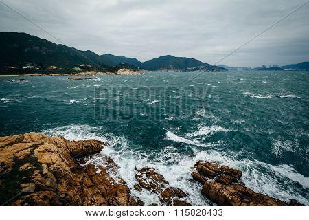 Rocky Coast At Tai Tau Chau, At Shek O, On Hong Kong Island, Hong Kong.