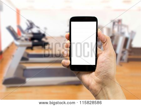 Using The Phone At Gym
