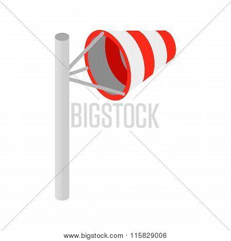Windsock isometric 3d icon