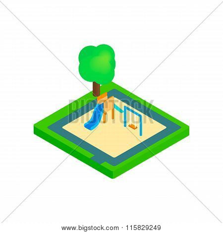 Childrens playground  isometric 3d icon