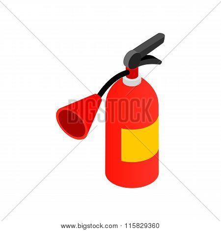 Fire extinguisher isometric 3d icon
