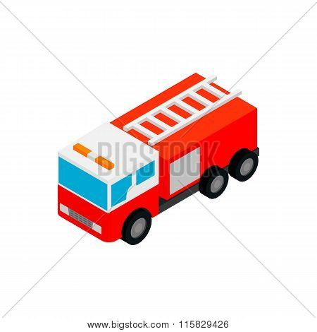 Fire truck isometric 3d icon