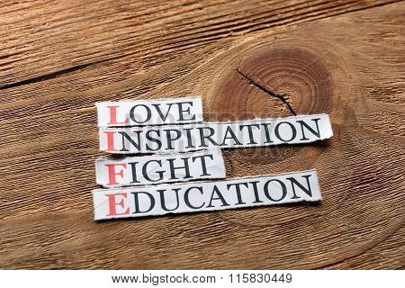 Life Education Love  Inspiration