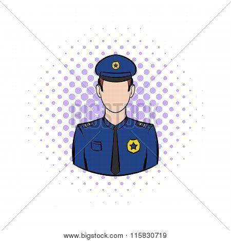 Policemen comics icon