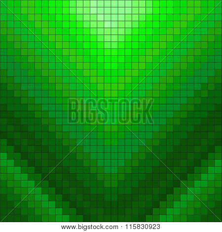 Green Pixels Geometric Background Vector Illustration