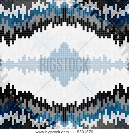 Small Pixels Colored Geometric Background