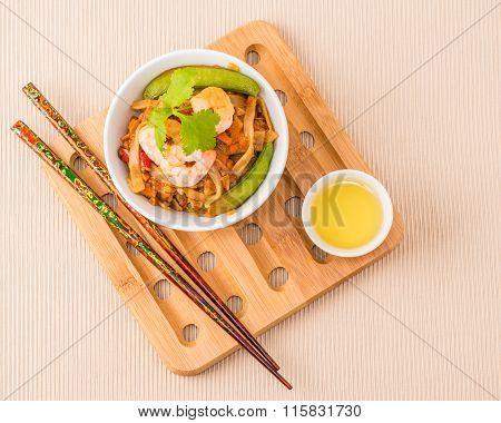 Overhead Shrimp Pad Thai