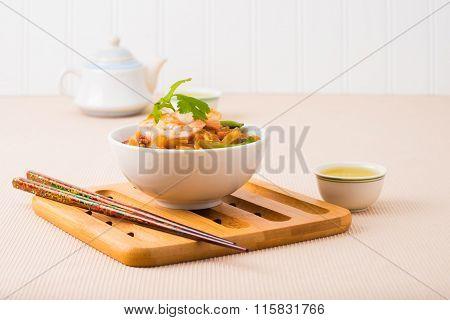 Rice Noodles And Shrimp
