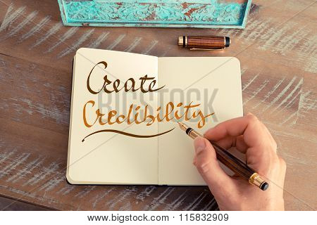 Handwritten Text Create Credibility