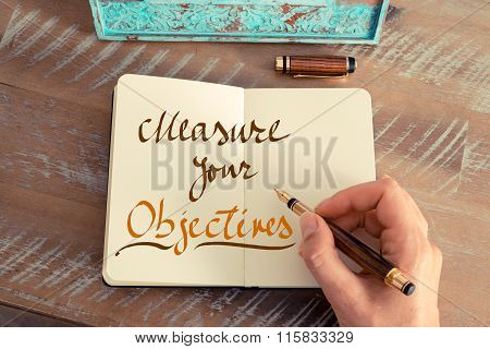 Handwritten Text Measure Your Objectives