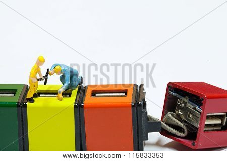 Under Construction And Teamwork Concept - Construction Workers Performing Repair Broken Parts