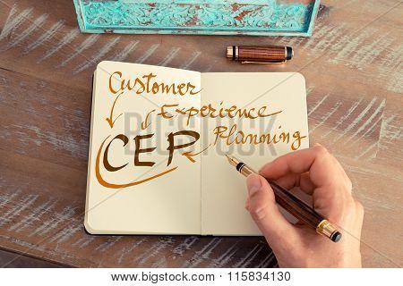 Handwritten Text Cep Customer Experience Planning