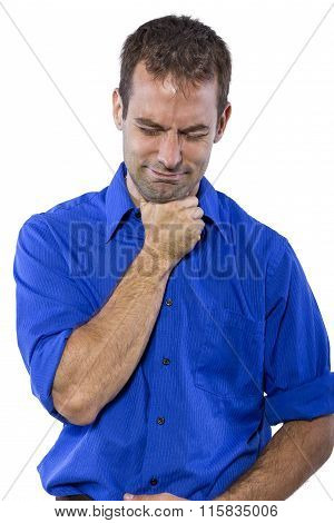 Businessman with a Sore Throat