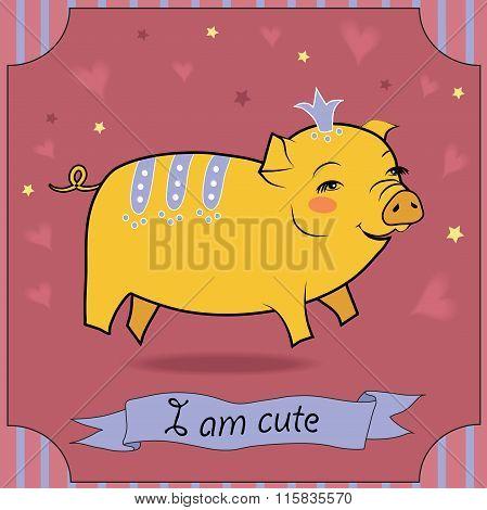 Cute Yellow Pig