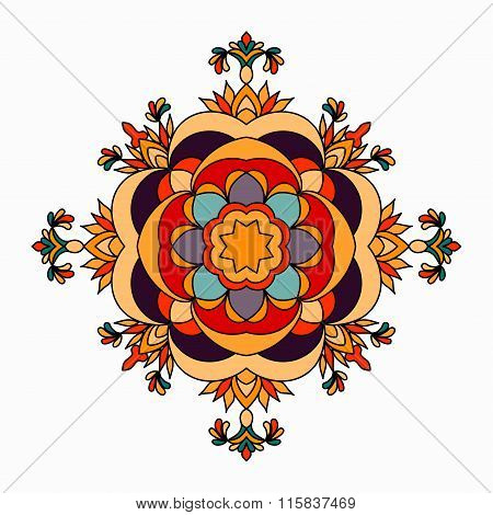 Mandala. Beautiful Vintage Elements. Vector Illustration