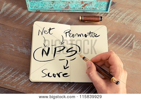 Handwritten Text Nps Net Promoter Score