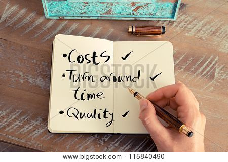 Handwritten Text Costs Turn-around Time Quality