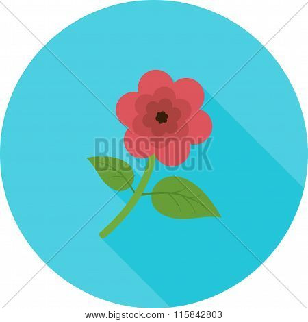 Flower with leaves