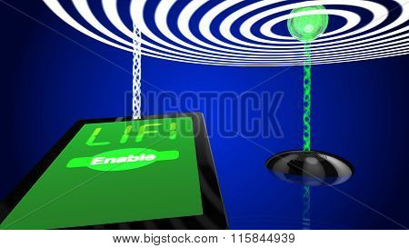 Lifi Concept Illustration Transmitter