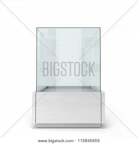 White Glass Window Isolated On A White Background Front View