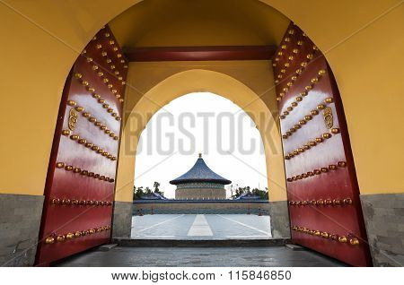 View Of The Imperial Vault Of Heaven At The Temple Of Heaven Complex, Beijing