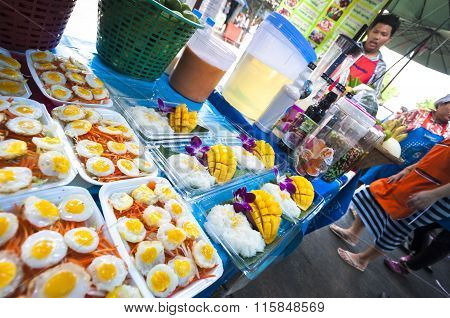 Food Stall Outside Chatuchak Market, Bangkok