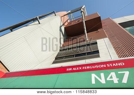 Sir Alex Ferguson Stand, Old Trafford, Manchester