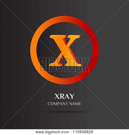 X Letter Logo Abstract Design