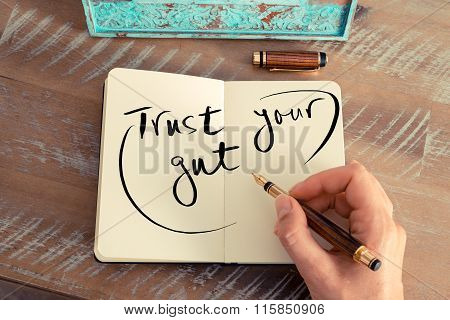 Handwritten Text Trust Your Gut