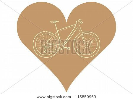 Bicycle in heart