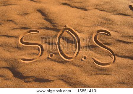 S.o.s Sign On The Beach
