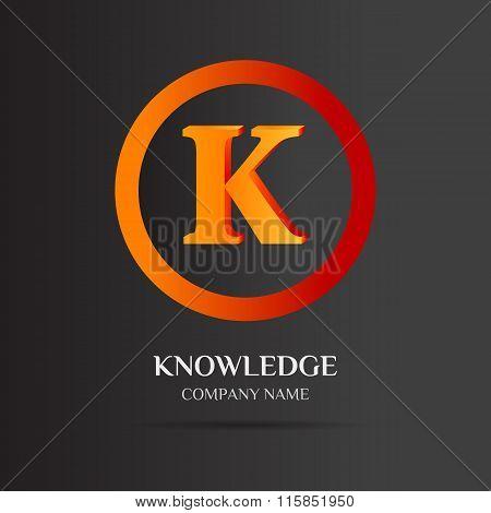 K Letter Logo Abstract Design
