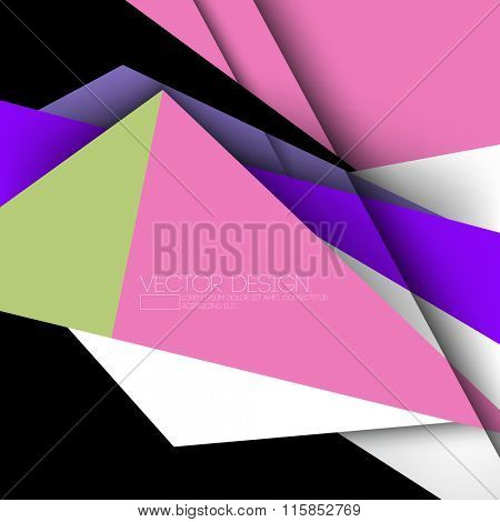 geometric modern colorful material vector design