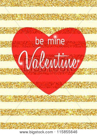Be Mine Valentine Vector Card