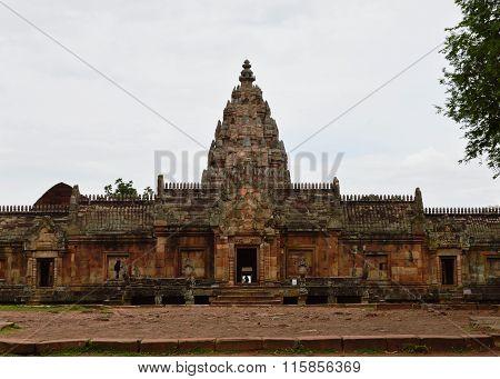 Phanom Rung stone castle histirical park in Thailand
