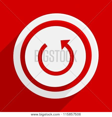 rotate red vector flat icon