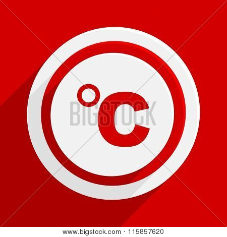 celsius red vector flat icon