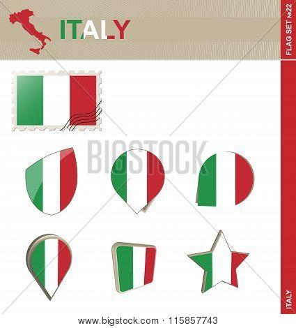 Italy Flag Set, Flag Set #22