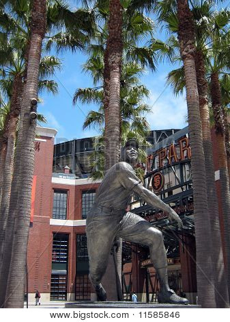Willie Mays Statue In Front Of At&t Park